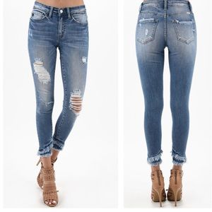 Ankle Fray Skinny Jeans